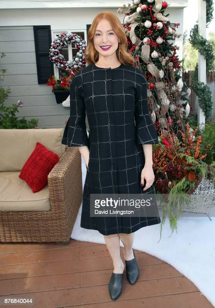 Actress Alicia Witt visits Hallmark's 'Home Family' at Universal Studios Hollywood on November 20 2017 in Universal City California