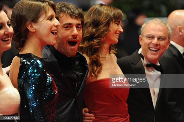 Actress Alina Berzenteanu actor Elio Germano actress Stefania Montorsi director Daniele Luchetti attend the 'Our Life' Premiere at the Palais des...