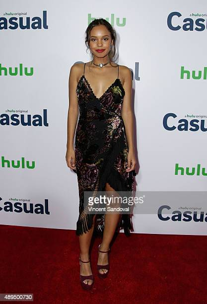 Actress Alisha Boe attends the premiere of Hulu's 'Casual' at SilverScreen Theater at the Pacific Design Center on September 21 2015 in West...
