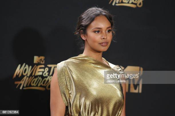 Actress Alisha Boe poses in the press room at the 2017 MTV Movie and TV Awards at The Shrine Auditorium on May 7 2017 in Los Angeles California