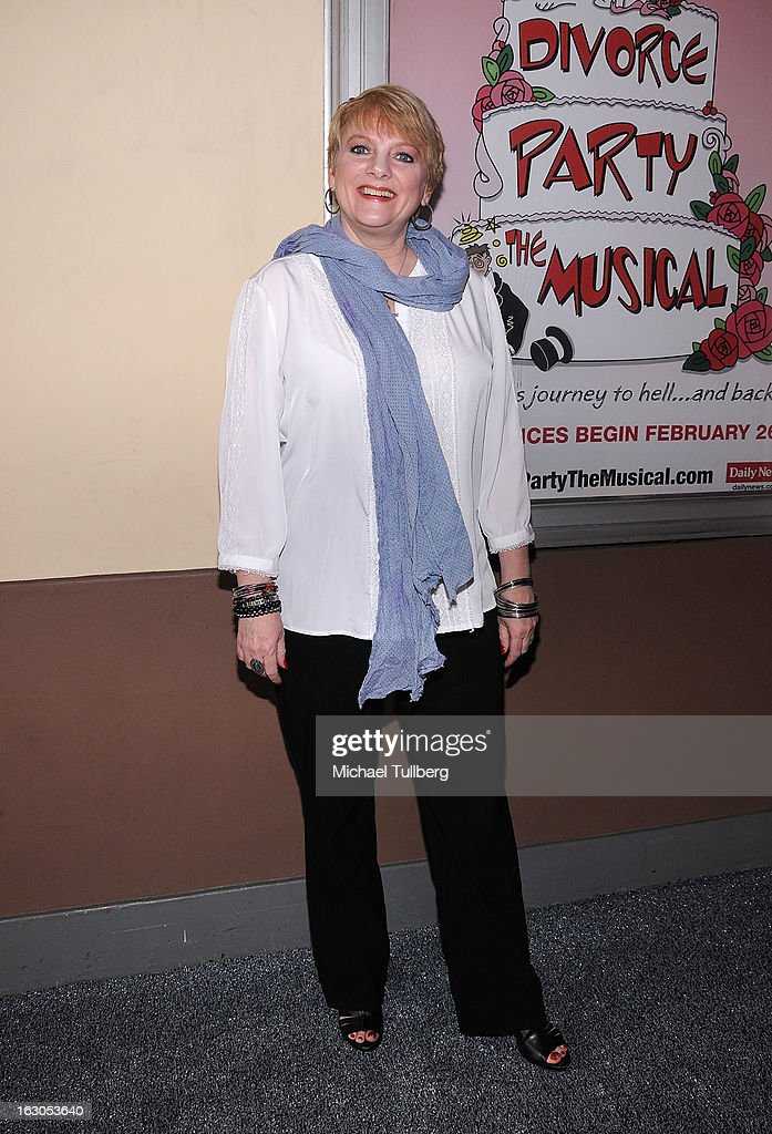 Actress Alison Arngrim attends the opening night performance of 'Divorce Party - The Musical' at El Portal Theatre on March 3, 2013 in North Hollywood, California.