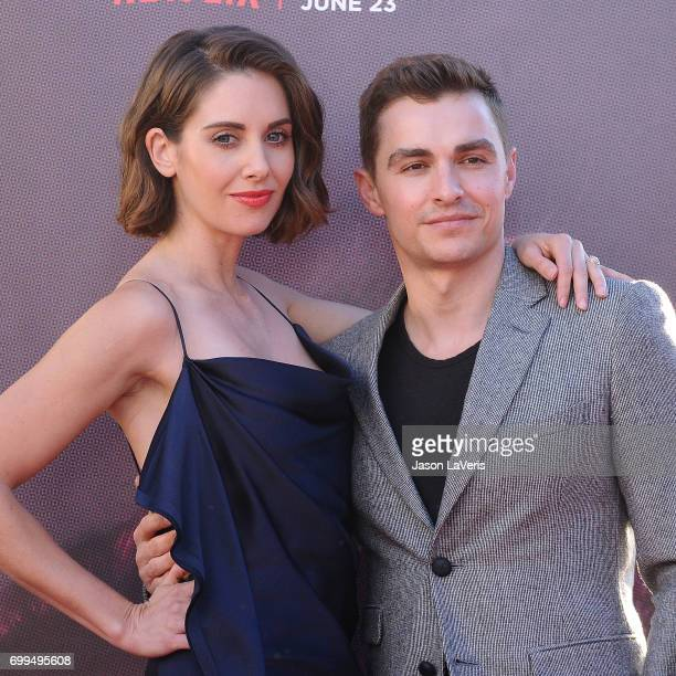 Actress Alison Brie and actor Dave Franco attend the premiere of 'GLOW' at The Cinerama Dome on June 21 2017 in Los Angeles California