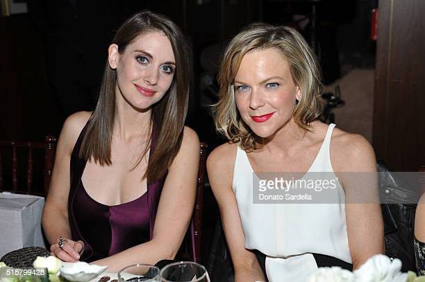 Actress Alison Brie and Style Editor The Hollywood Reporter Carol McColgin attend The Hollywood Reporter and Jimmy Choo's Power Stylists Dinner at...