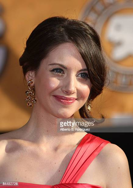 Actress Alison Brie arrives at the 15th Annual Screen Actors Guild Awards held at the Shrine Auditorium on January 25 2009 in Los Angeles California