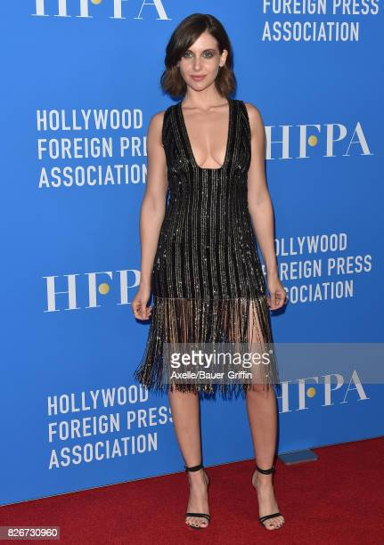 Actress Alison Brie arrives at the Hollywood Foreign Press Association's Grants Banquet at the Beverly Wilshire Four Seasons Hotel on August 2 2017...
