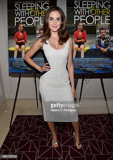 Actress Alison Brie attend the Tastemaker screening of IFC Films' 'Sleeping With Other People' on August 24 2015 in Los Angeles California