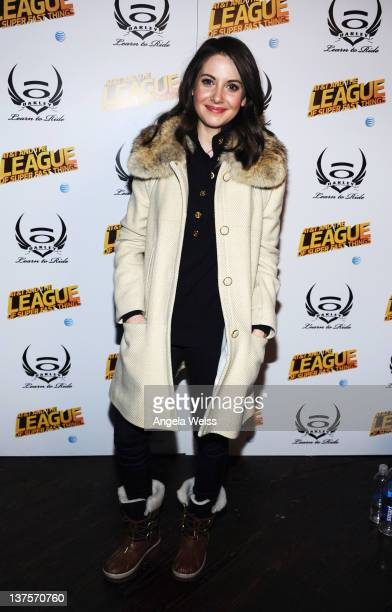 Actress Alison Brie attends Day 3 of Oakley Learn to Ride Powered by ATT and the League of Super Fast Things on January 22 2012 in Park City Utah