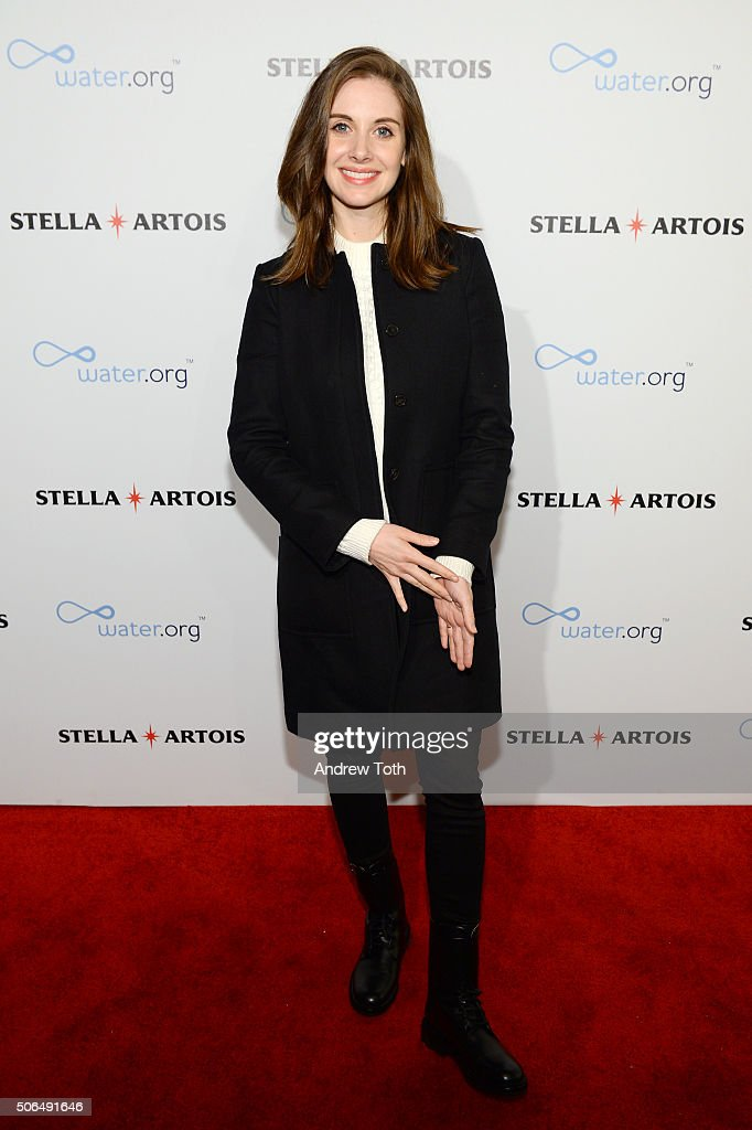 Actress Alison Brie attends Stella Artois Filmmaker Lounge presents 'Joshy' supper on January 23 2016 in Park City Utah