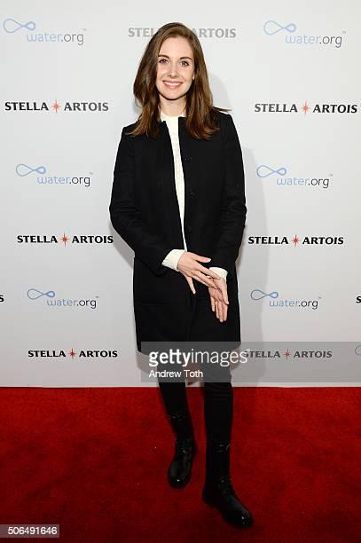 Actress Alison Brie attends Stella Artois Filmmaker Lounge presents 'Joshy' supper on January 23 2016 in Park City Utah
