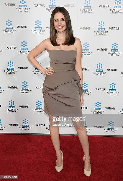 Actress Alison Brie attends the 2010 TCM Classic Film Festival opening night gala and premiere of 'A Star is Born' at Grauman's Chinese Theatre on...