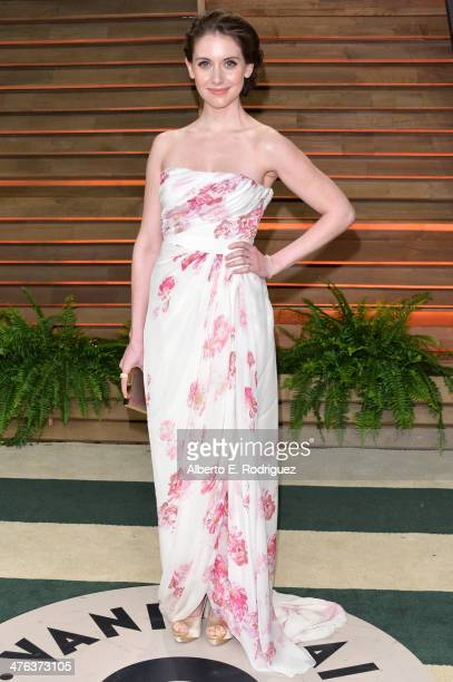 Actress Alison Brie attends the 2014 Vanity Fair Oscar Party hosted by Graydon Carter on March 2 2014 in West Hollywood California