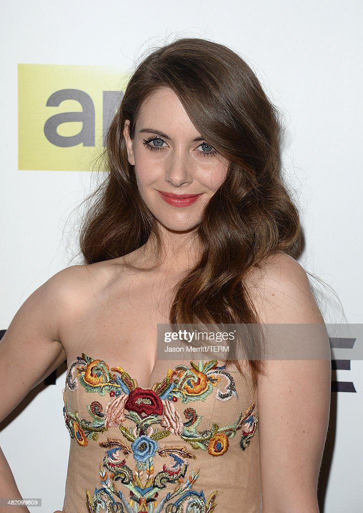 Actress <a gi-track='captionPersonalityLinkClicked' href=/galleries/search?phrase=Alison+Brie&family=editorial&specificpeople=5447578 ng-click='$event.stopPropagation()'>Alison Brie</a> attends the AMC celebration of the 'Mad Men' season 7 premiere at ArcLight Cinemas on April 2, 2014 in Hollywood, California.