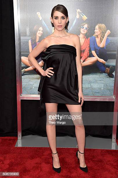 Actress Alison Brie attends the New York premiere of 'How To Be Single' at the NYU Skirball Center on February 3 2016 in New York City