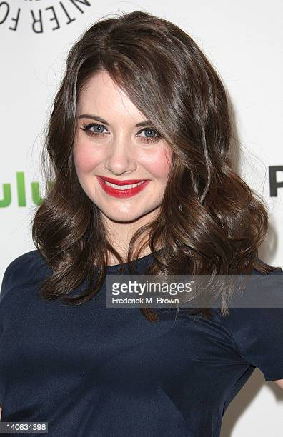 Actress Alison Brie attends The Paley Center For Media's PaleyFest 2012 Honoring 'Community' at the Saban Theatre on March 3 2012 in Beverly Hills...