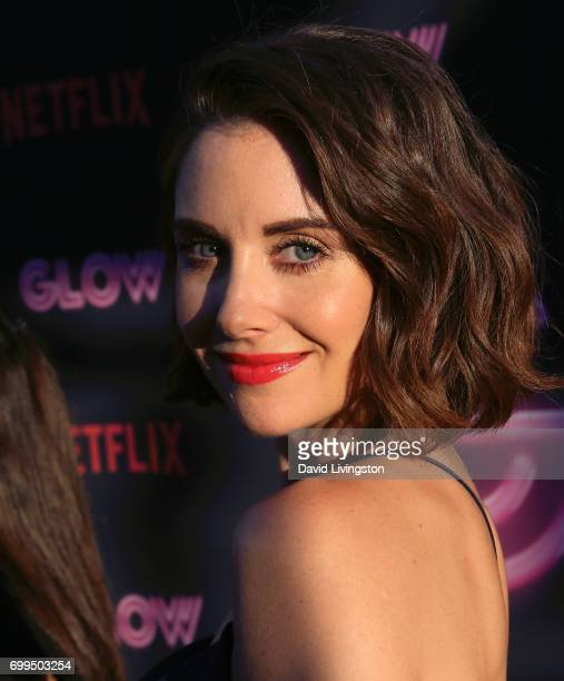 Actress Alison Brie attends the premiere of Netflix's 'GLOW' at The Cinerama Dome on June 21 2017 in Los Angeles California
