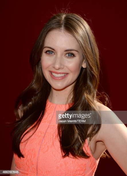 Actress Alison Brie attends the premiere of 'The LEGO Movie' at Regency Village Theatre on February 1 2014 in Westwood California