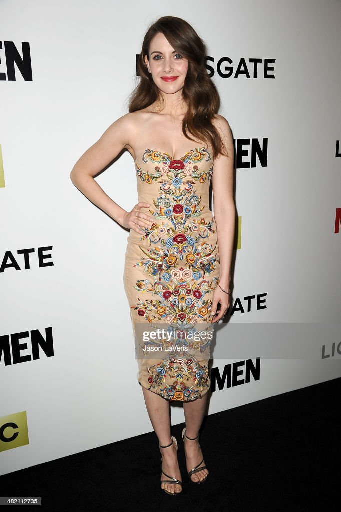 Actress Alison Brie attends the season 7 premiere of 'Mad Men' at ArcLight Cinemas on April 2 2014 in Hollywood California