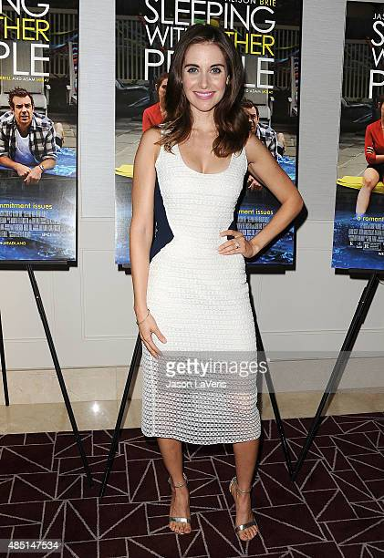 Actress Alison Brie attends the tastemaker screening of IFC Films' 'Sleeping With Other People' on August 24 2015 in West Hollywood California