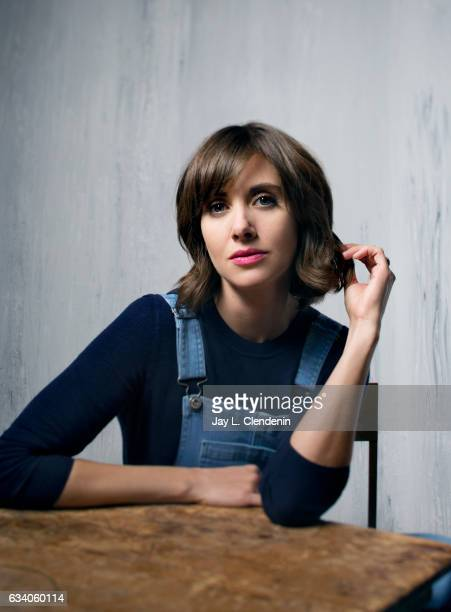 Actress Alison Brie from the film 'Thoroughbred' is photographed at the 2017 Sundance Film Festival for Los Angeles Times on January 20 2017 in Park...