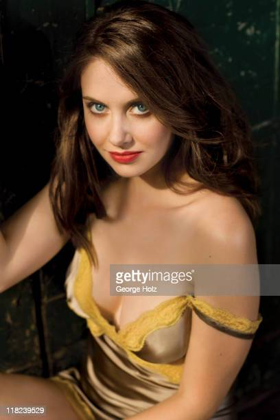Actress Alison Brie is photographed for Men's Health Magazine on July 17 2010 in Los Angeles California Published image