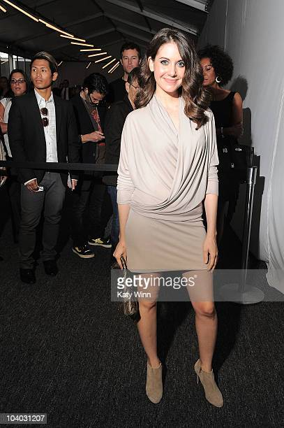 Actress Alison Brie is seen around Lincoln Center during MercedesBenz Fashion Week on September 12 2010 in New York City
