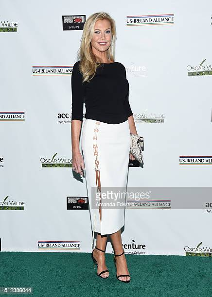 Actress Alison Doody arrives at the 2016 Oscar Wilde Awards at Bad Robot on February 25 2016 in Santa Monica California