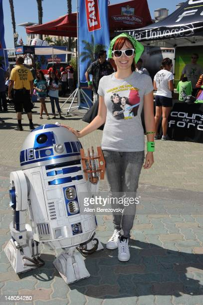Actress Alison Haislip attends the 'Course of the Force' Inaugural 'Star Wars' Relay 'Conival' at Southside Huntington Beach Pier on July 8 2012 in...