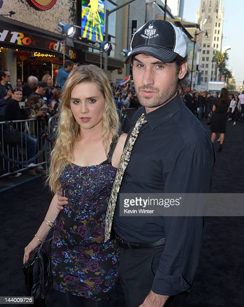 Actress Alison Lohman and guest arrive at the premiere of Warner Bros Pictures' 'Dark Shadows' at Grauman's Chinese Theatre on May 7 2012 in...