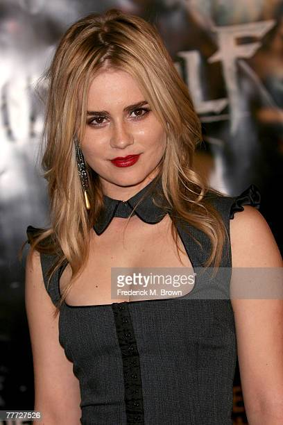 Actress Alison Lohman arrives at the premiere of Paramount Pictures' 'Beowulf' at the Westwood Village Theatre on November 5 2007 in Los Angeles...