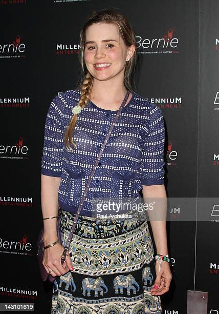 Actress Alison Lohman attends the 'Bernie' Los Angeles premiere at the ArcLight Cinemas on April 18 2012 in Hollywood California