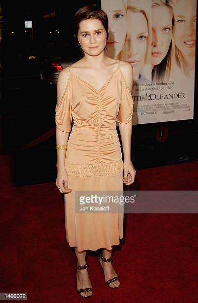 Actress Alison Lohman attends the premiere of 'White Oleander' at Grauman's Chinese Theater on October 8 2002 in Hollywood California