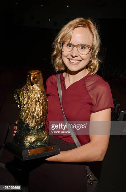 Actress Alison Pill accepts the Virtuoso Award at the opening night tribute at the San Diego Film Festival 2014 on September 27 2014 in San Diego...