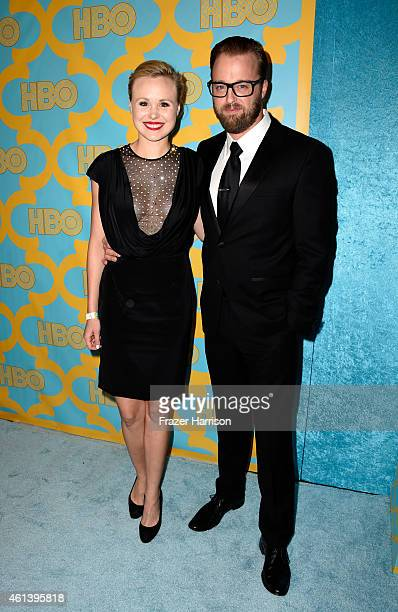 Actress Alison Pill and actor Joshua Leonard attend HBO's Post 2015 Golden Globe Awards Party at Circa 55 Restaurant on January 11 2015 in Los...