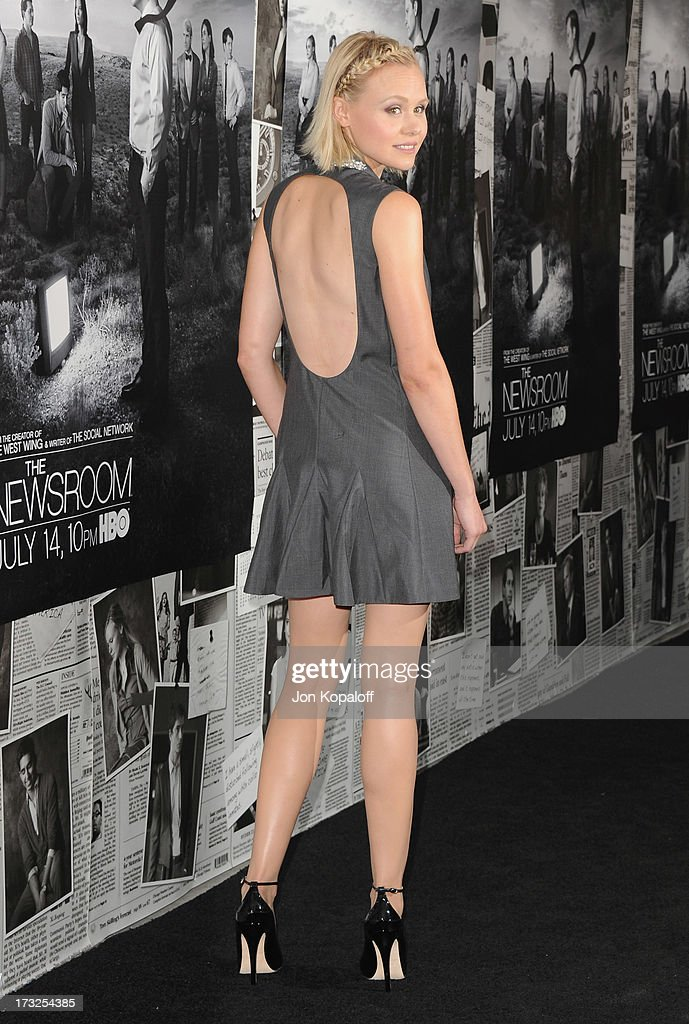 Actress Alison Pill arrives at HBO's Season 2 Premiere Of 'The Newsroom' at Paramount Theater on the Paramount Studios lot on July 10, 2013 in Hollywood, California.