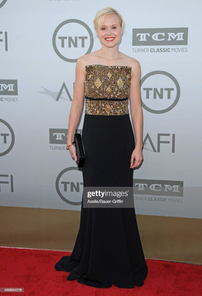 Actress <a gi-track='captionPersonalityLinkClicked' href=/galleries/search?phrase=Alison+Pill&family=editorial&specificpeople=585936 ng-click='$event.stopPropagation()'>Alison Pill</a> arrives at the 2014 AFI Life Achievement Award Gala Tribute at Dolby Theatre on June 5, 2014 in Hollywood, California.