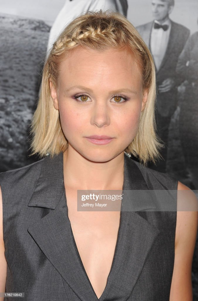Actress <a gi-track='captionPersonalityLinkClicked' href=/galleries/search?phrase=Alison+Pill&family=editorial&specificpeople=585936 ng-click='$event.stopPropagation()'>Alison Pill</a> arrives at the Los Angeles Season 2 Premiere Of HBO's Series 'The Newsroom' at Paramount Studios on July 10, 2013 in Hollywood, California.