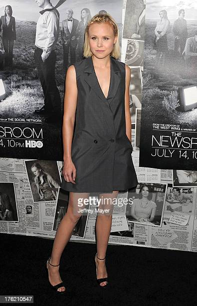 Actress Alison Pill arrives at the Los Angeles Season 2 Premiere Of HBO's Series 'The Newsroom' at Paramount Studios on July 10 2013 in Hollywood...