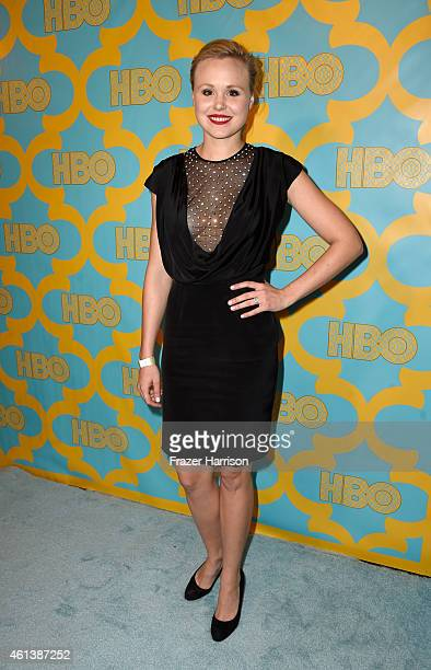 Actress Alison Pill attends HBO's Post 2015 Golden Globe Awards Party at Circa 55 Restaurant on January 11 2015 in Los Angeles California