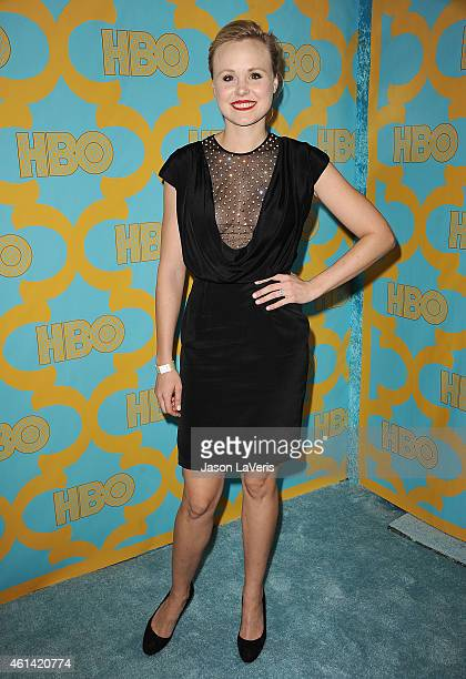Actress Alison Pill attends HBO's post Golden Globe Awards party at The Beverly Hilton Hotel on January 11 2015 in Beverly Hills California