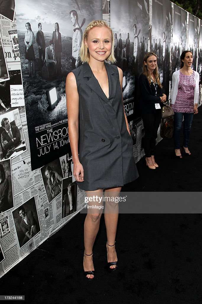 Actress Alison Pill attends HBO's 'The Newsroom' season 2 premiere at Paramount Studios on July 10, 2013 in Hollywood, California.