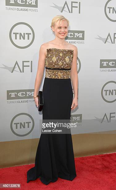 Actress Alison Pill attends the 2014 AFI Life Achievement Award A Tribute to Jane Fonda at the Dolby Theatre on June 5 2014 in Hollywood California...