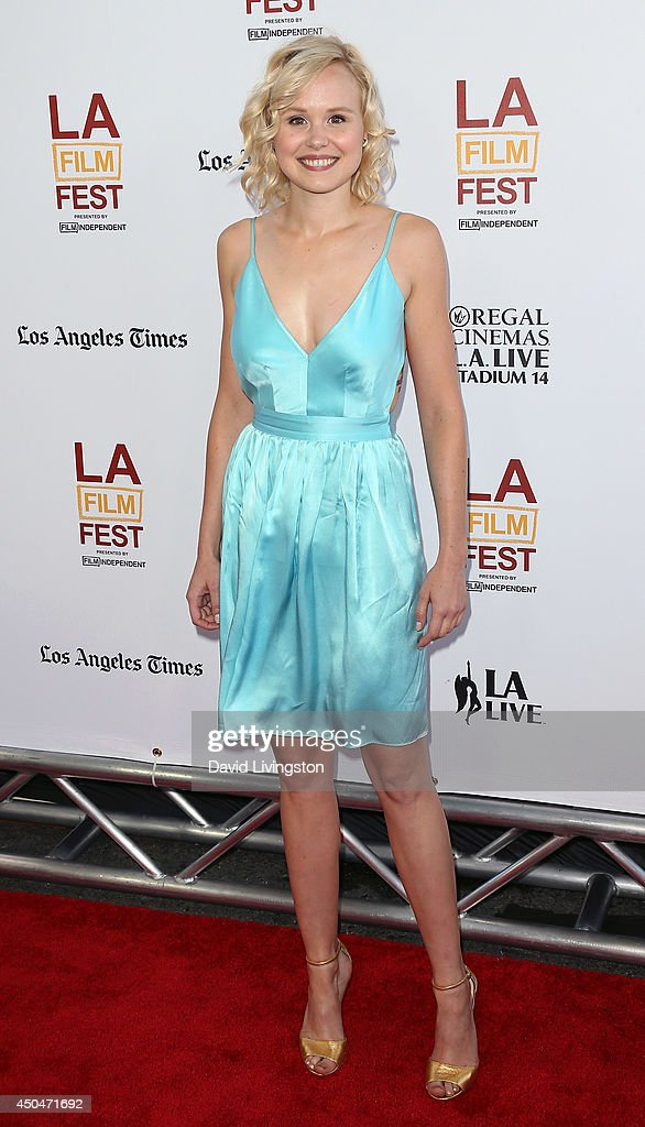 Actress <a gi-track='captionPersonalityLinkClicked' href=/galleries/search?phrase=Alison+Pill&family=editorial&specificpeople=585936 ng-click='$event.stopPropagation()'>Alison Pill</a> attends the 2014 Los Angeles Film Festival opening night premiere of 'Snowpiercer' at Regal Cinemas L.A. Live on June 11, 2014 in Los Angeles, California.