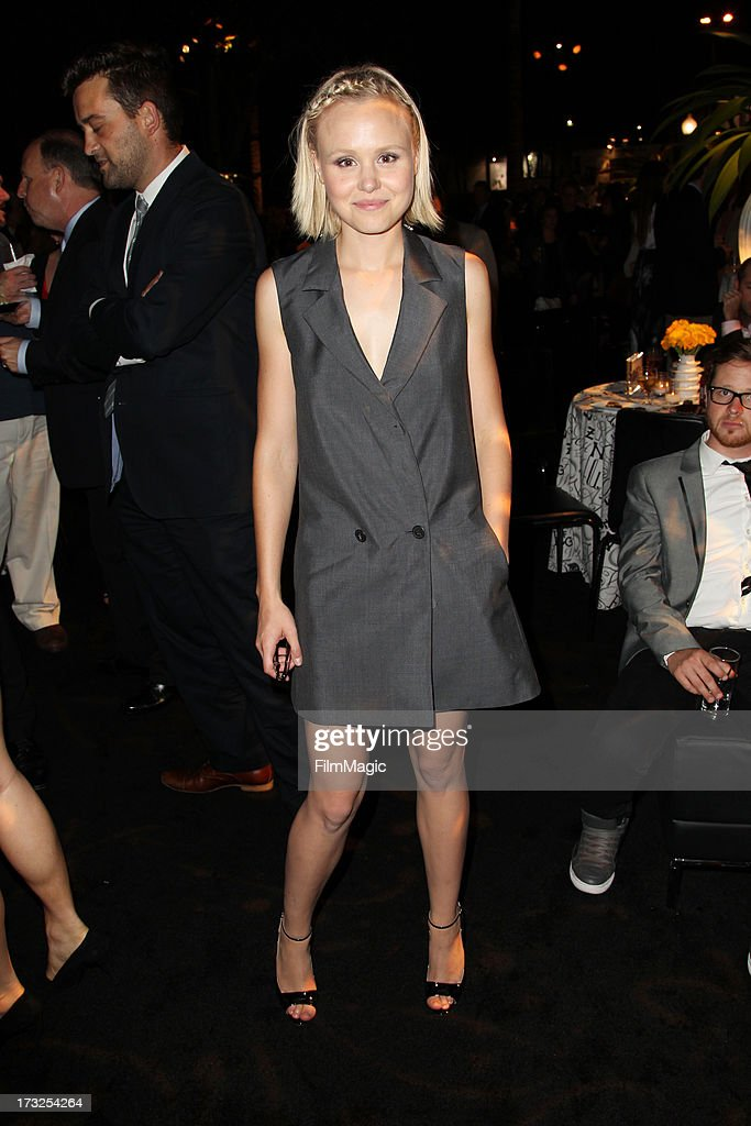Actress Alison Pill attends the after party for HBO's 'The Newsroom' season 2 premiere at Paramount Studios on July 10, 2013 in Hollywood, California.