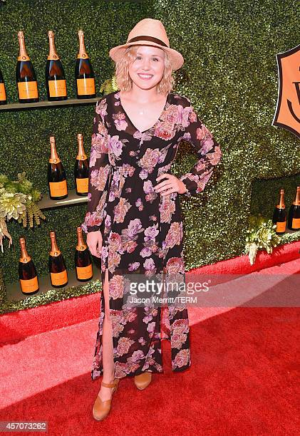 Actress Alison Pill attends the FifthAnnual Veuve Clicquot Polo Classic at Will Rogers State Historic Park on October 11 2014 in Pacific Palisades...