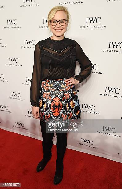 Actress Alison Pill attends the IWC Schaffhausen Third Annual 'For the Love of Cinema' Gala during the Tribeca Film Festival on April 16 2015 in New...
