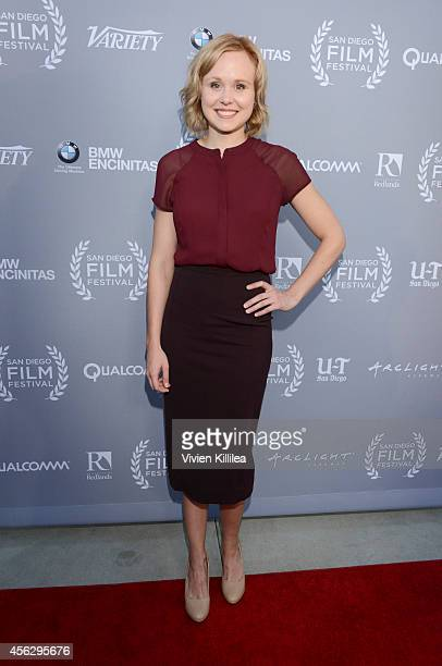 Actress Alison Pill attends the opening night tribute at the San Diego Film Festival 2014 on September 27 2014 in San Diego California