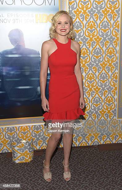 Actress Alison Pill attends the premiere of HBO's 'Newsroom' Season 3 at Directors Guild Of America on November 4 2014 in Los Angeles California