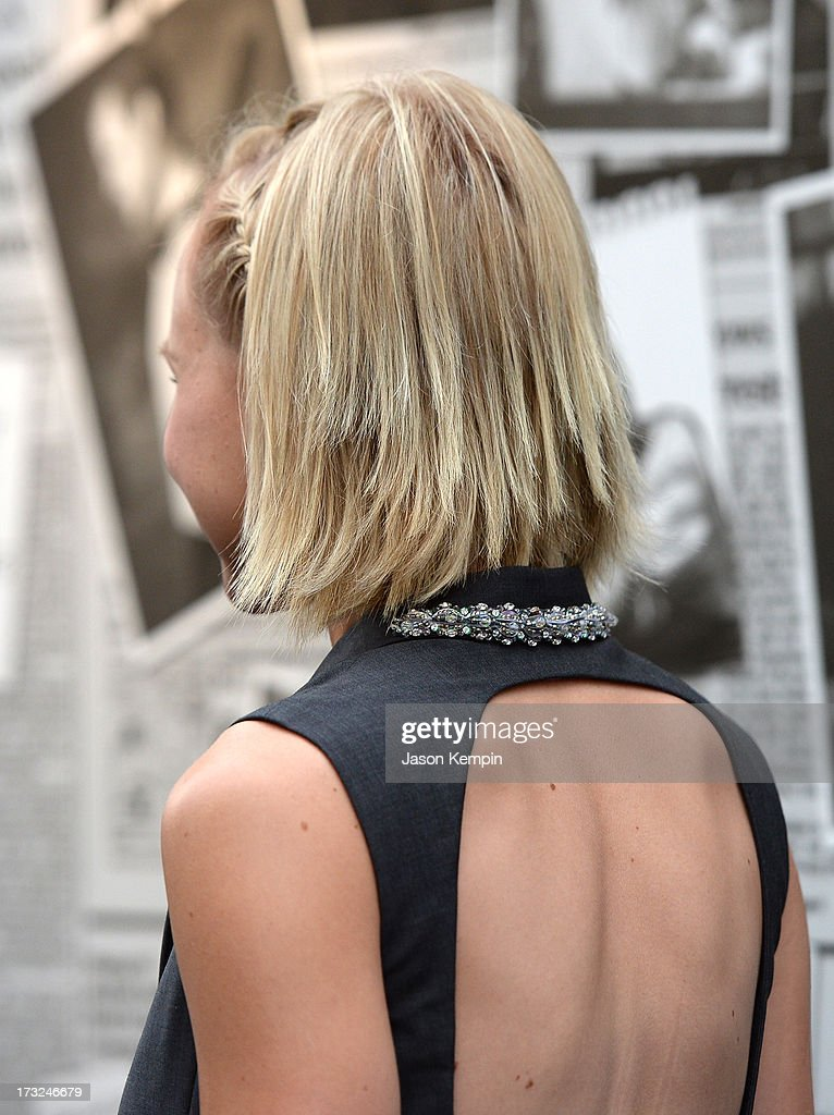 Actress Alison Pill (hair detail) attends the premiere of HBO's 'The Newsroom' Season 2 at Paramount Theater on the Paramount Studios lot on July 10, 2013 in Hollywood, California.