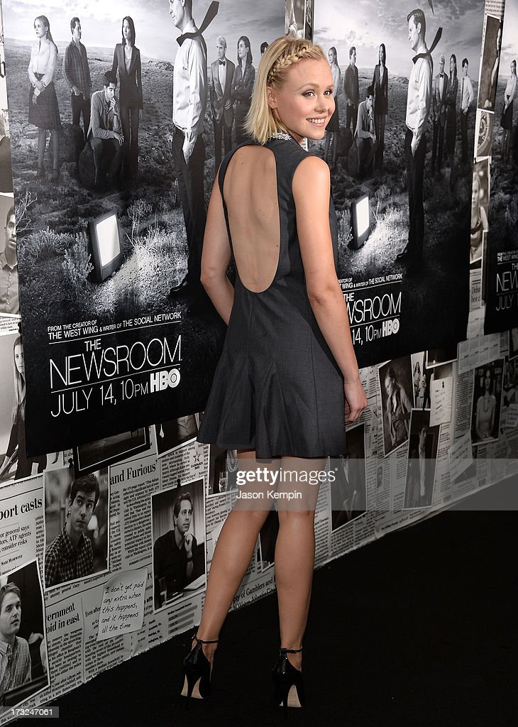 Actress Alison Pill attends the premiere of HBO's 'The Newsroom' Season 2 at Paramount Theater on the Paramount Studios lot on July 10, 2013 in Hollywood, California.