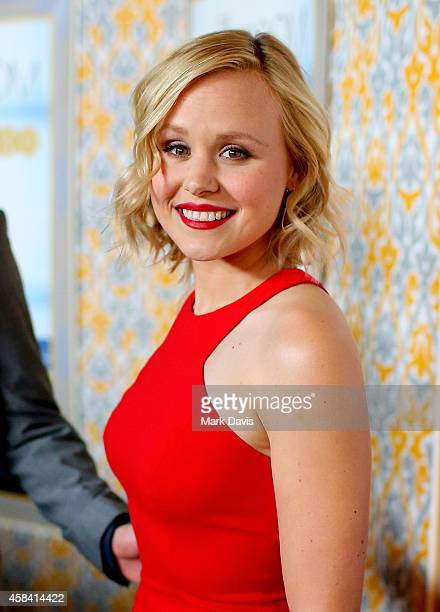 Actress Alison Pill attends the Premiere of HBO's 'The Newsroom' Season 3 at Directors Guild Of America on November 4 2014 in Los Angeles California